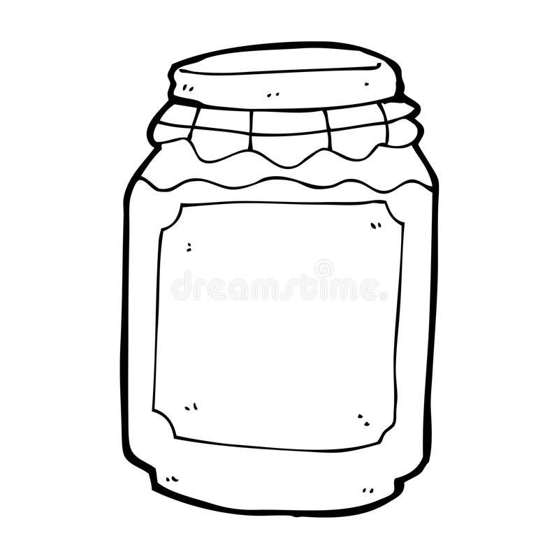 cartoon jar of jam royalty free illustration
