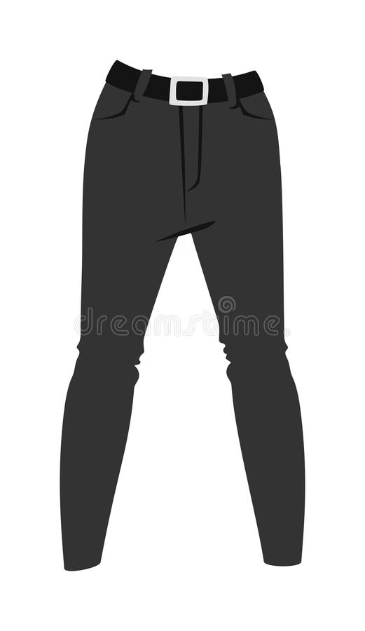 Cartoon Jeans Trousers Details Silhouettes On White Background Stock Vector - Illustration of ...
