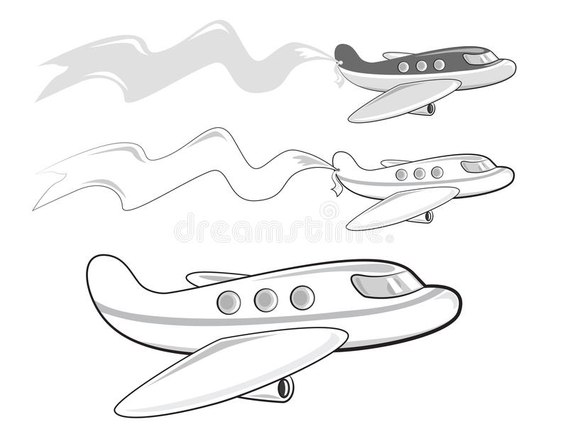 cartoon jets carrying a banner stock vector illustration of rh dreamstime com cartoon jetsons characters jetsons cartoon