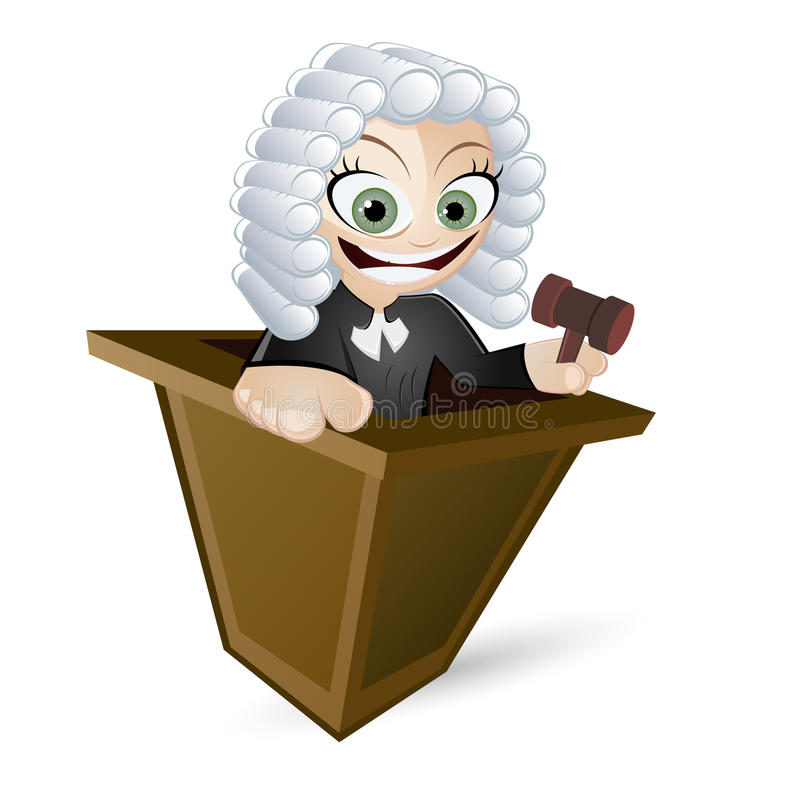 Download Cartoon Judge with Wig stock vector. Illustration of united - 20748728
