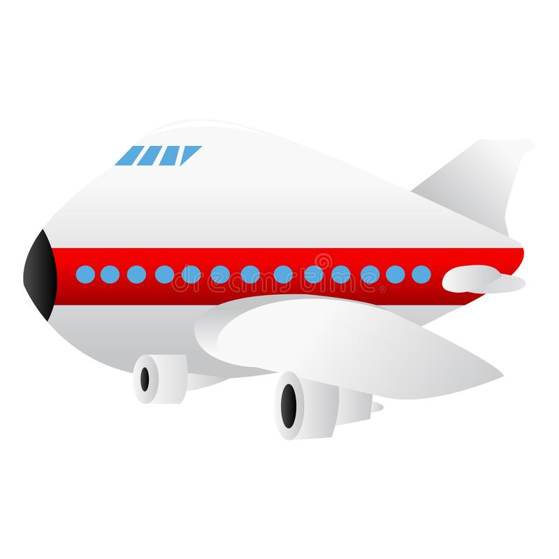 Cartoon Jumbo Jet Airplane vector illustration