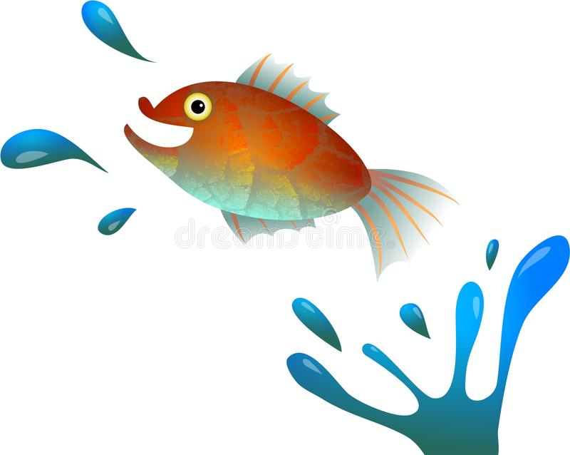 Cartoon Jumping Fish royalty free illustration