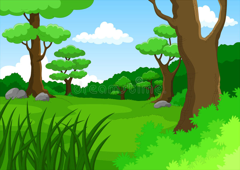 cartoon jungle background stock illustration illustration of rh dreamstime com jungle background cartoon clipart jungle cartoon background free