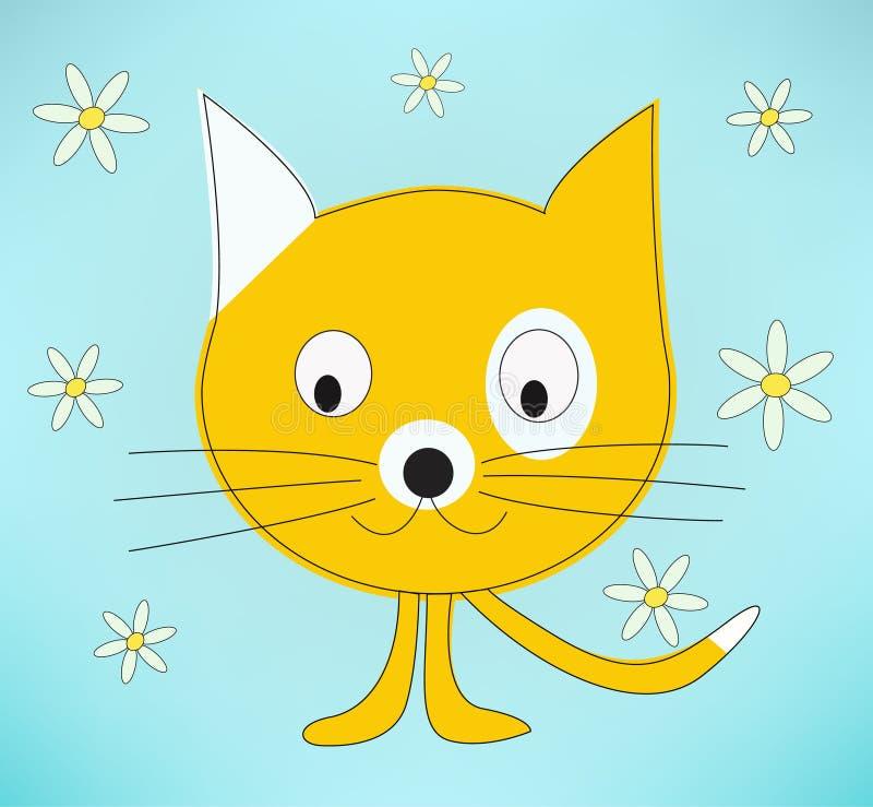 Cartoon Kat. Background illustration vector illustration
