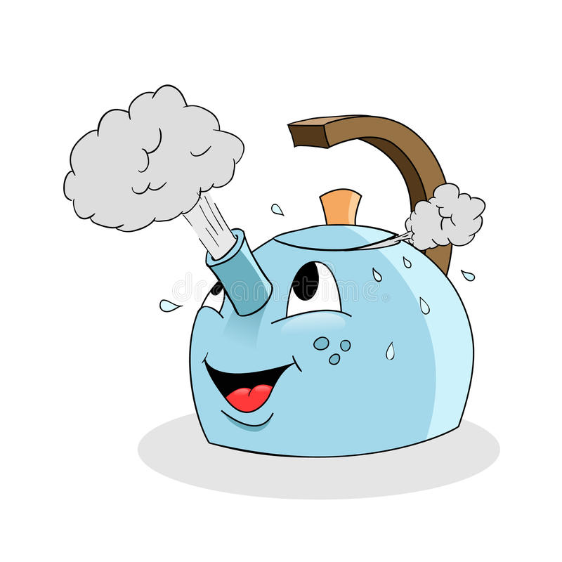 Cartoon kettle vector illustration