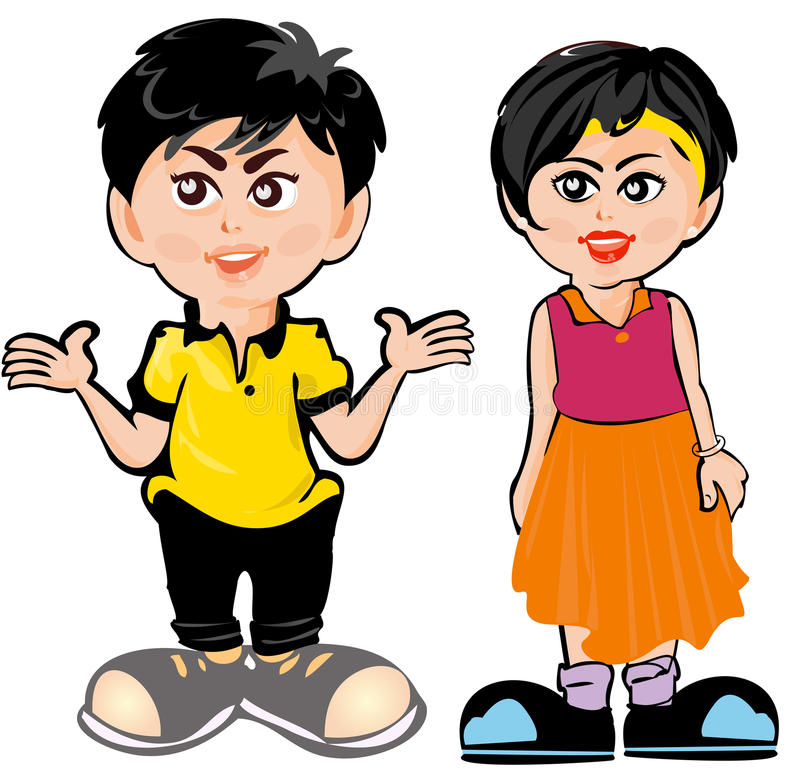 Download Cartoon Kids stock vector. Illustration of action, illustration - 12948374