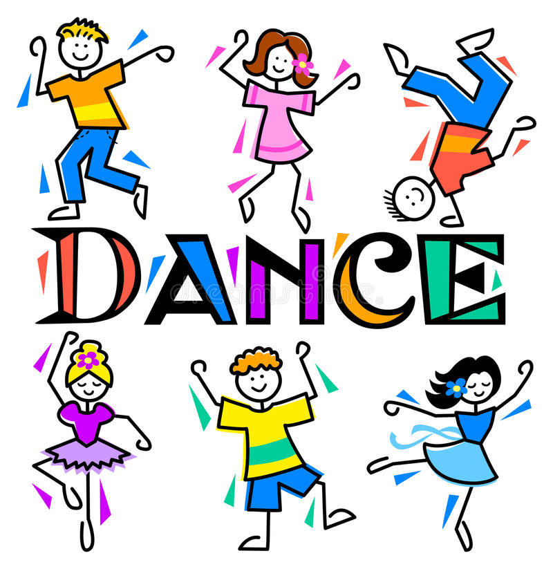 Cartoon Kids Dance/eps royalty free illustration