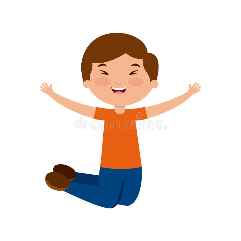 Cartoon kids design. Cute happy boy icon over white background. colorful design. illustration stock illustration