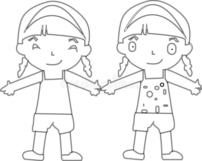 Cartoon kids jumping. Vector clip art illustration with simple gradients. Each on a separate layer. - Images vectorielles.  vector illustration