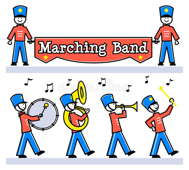 Cartoon Kids Marching Band/eps royalty free illustration