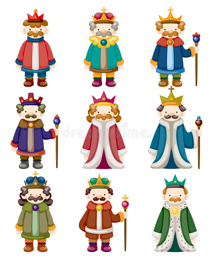 Download Cartoon king icons set stock vector. Image of cartoon - 21965430