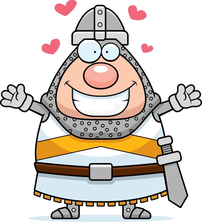Cartoon Knight Hug royalty free illustration