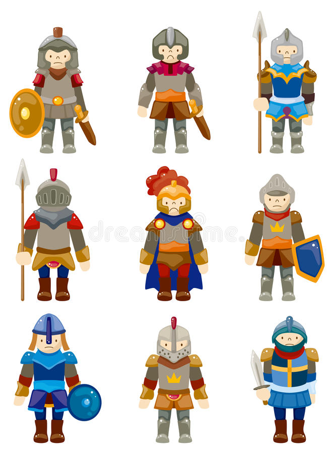 Cartoon Knight icon royalty free illustration