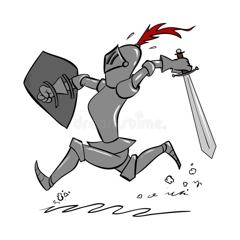 Cartoon Knight royalty free illustration