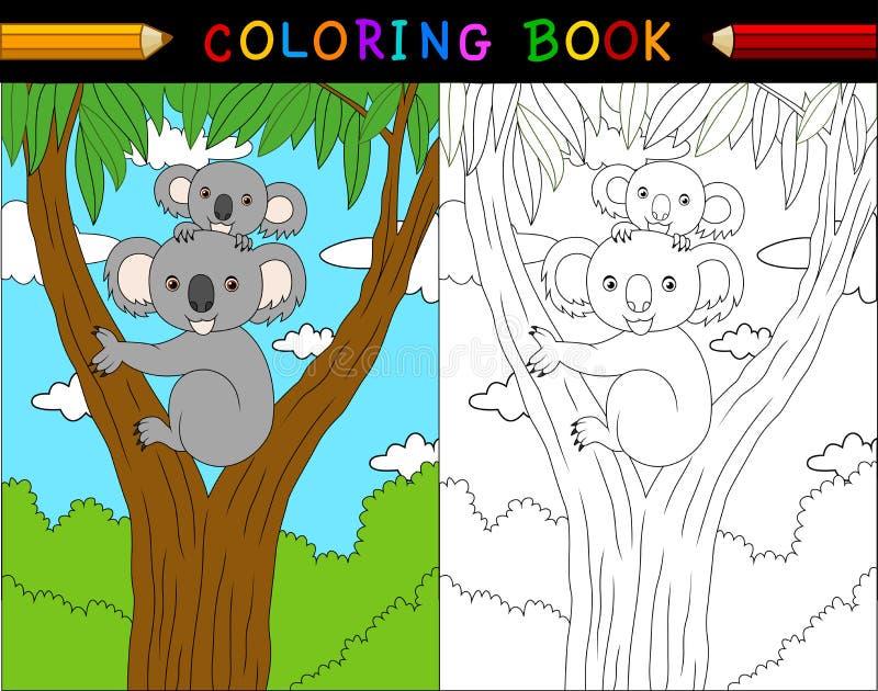 Cartoon koala coloring book, Australian animals series. Illustration of Cartoon koala coloring book, Australian animals series stock illustration