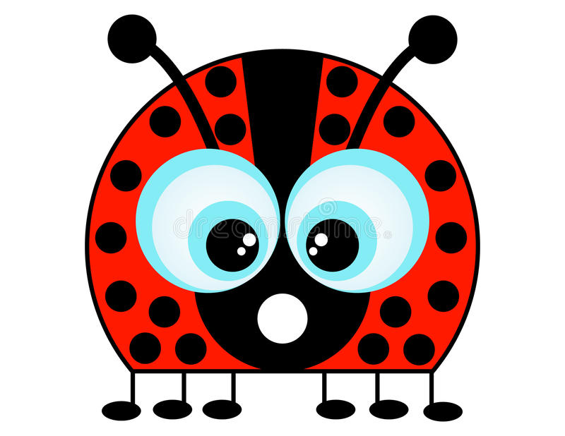 Awesome Download A Cartoon Ladybug Stock Vector. Illustration Of Ladybird   23355645