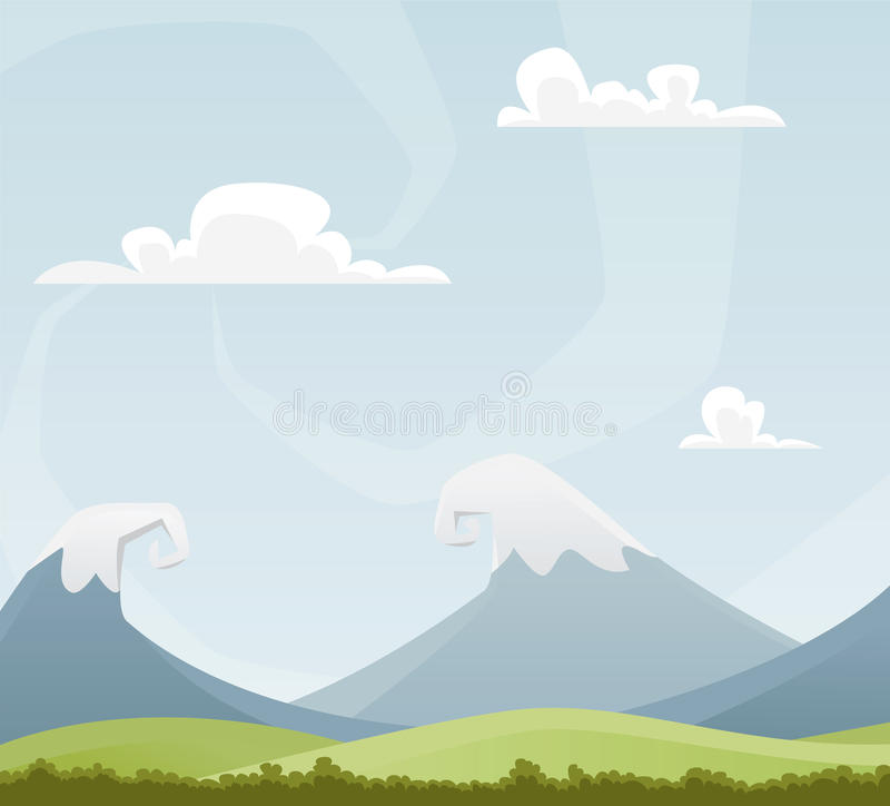 Cartoon landscape royalty free illustration