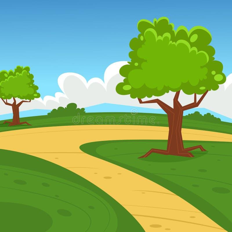 cartoon landscape stock vector. illustration of trail - 45931469