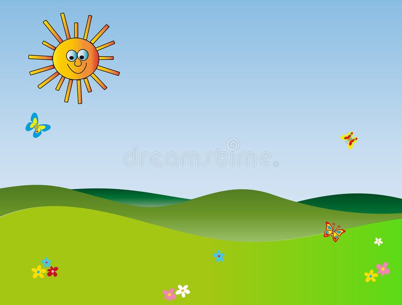Download Cartoon landscapes stock illustration. Image of balloons - 6259177