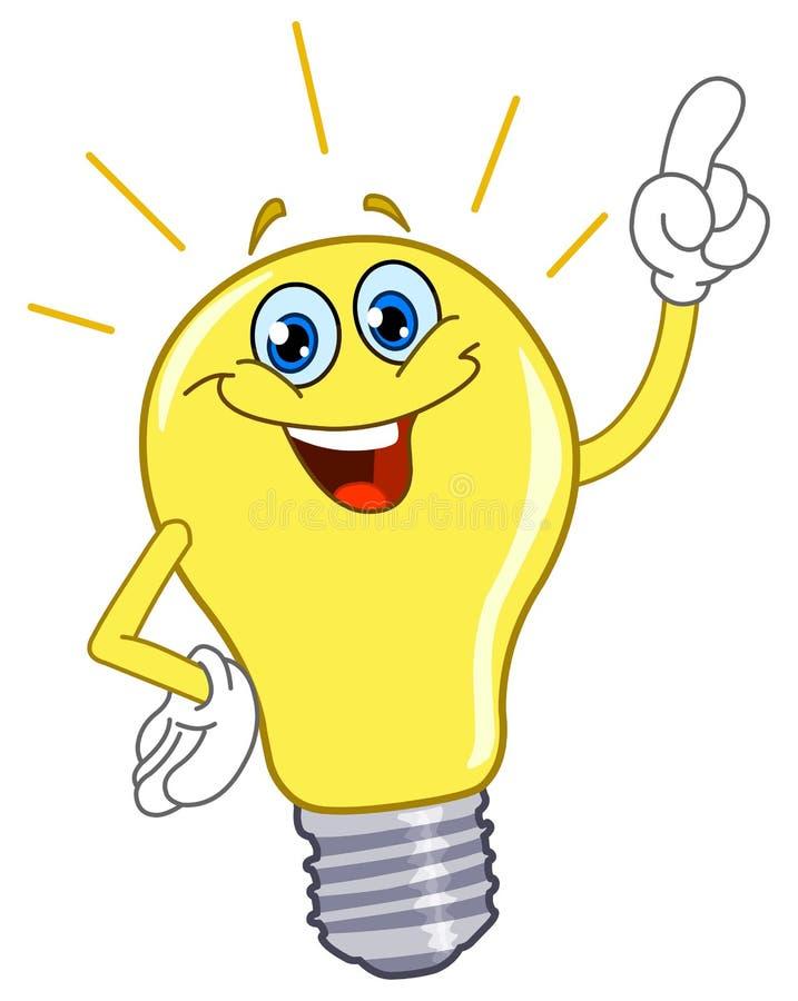 Cartoon light bulb stock illustration