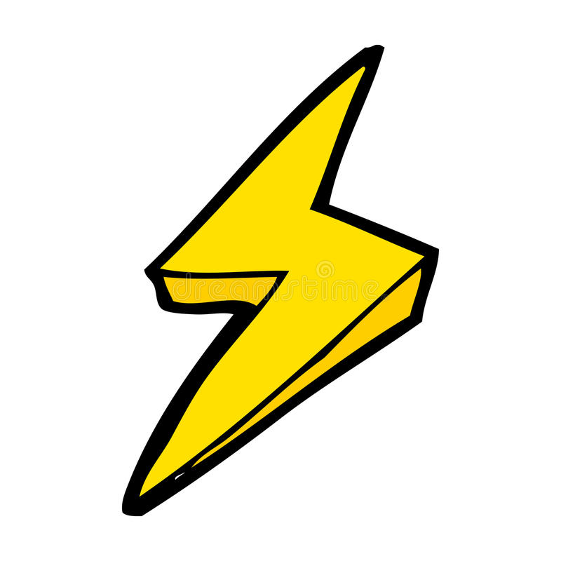 cartoon lightning bolt symbol stock vector illustration of rh dreamstime com lightning bolt cartoon art lightning bolt cartoon pictures