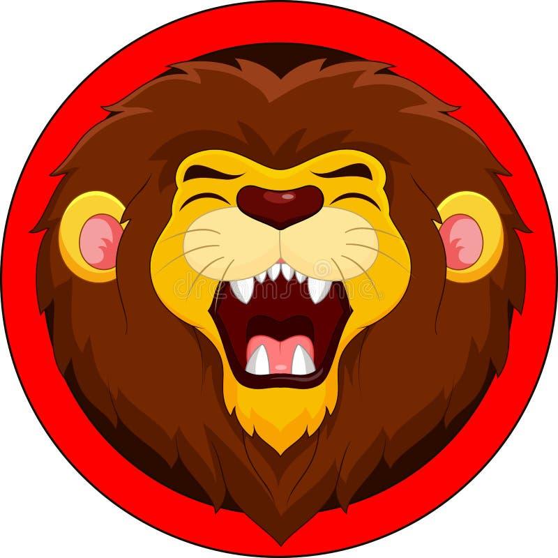 Cute Lion Mascot Cartoon Illustration Animal Wildlife Icon Concept