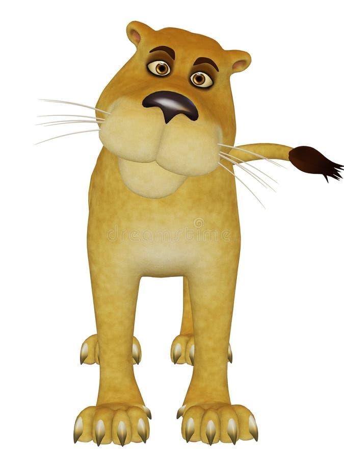 Cartoon lioness vector illustration