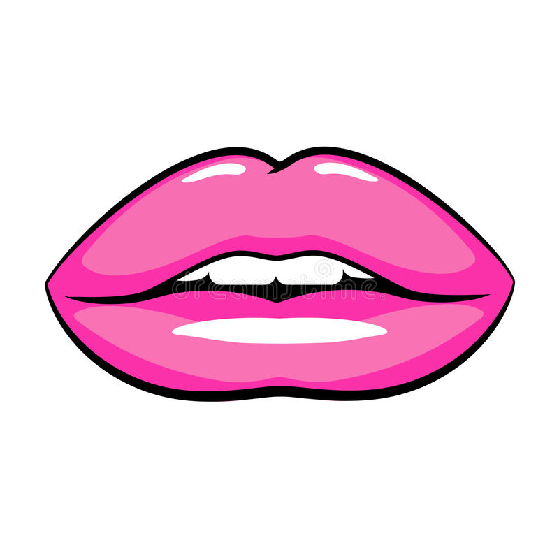 Cartoon lips stock vector. Illustration of style, design ...