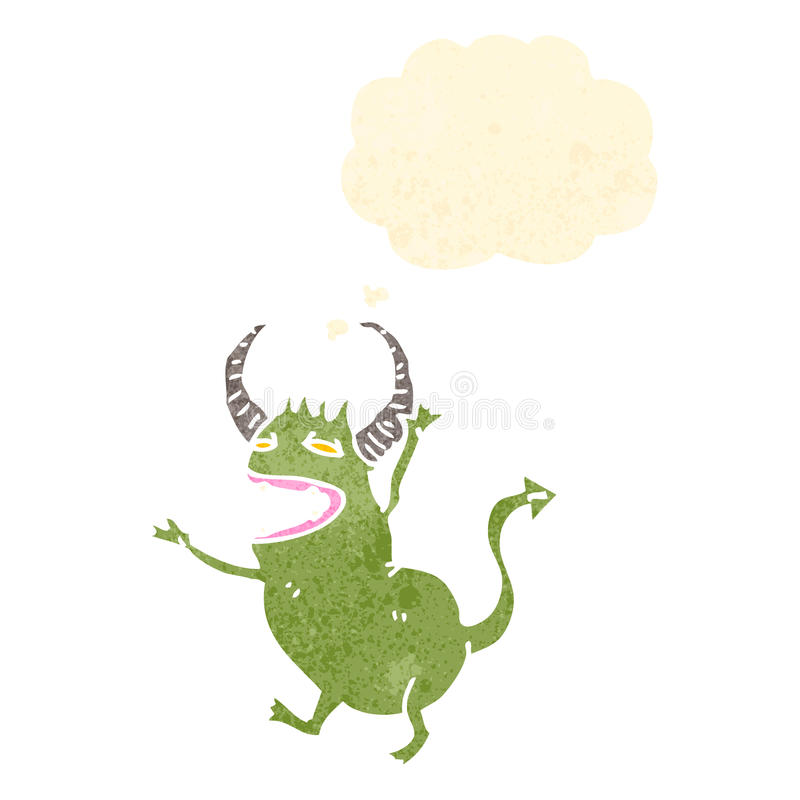 Download Cartoon Little Green Devil Royalty Free Stock Photography - Image: 37577967