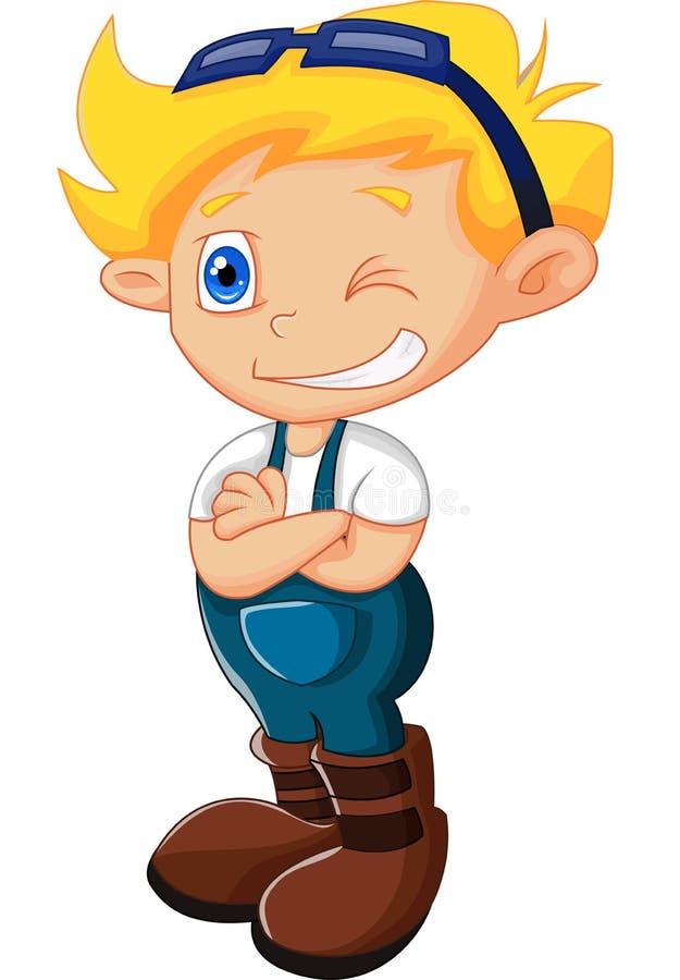 Cartoon little kid posing. Illustration of Cartoon little kid posing stock illustration