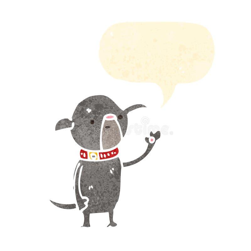 Cartoon Little Pug Dog Waving Stock Photo