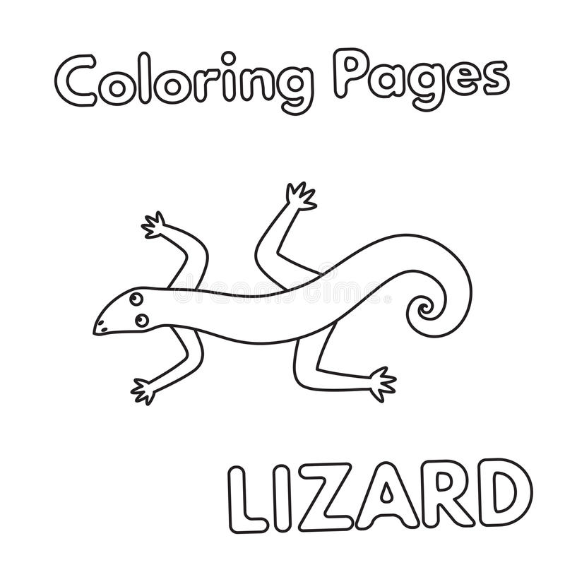 cartoon lizard coloring book stock vector illustration of image