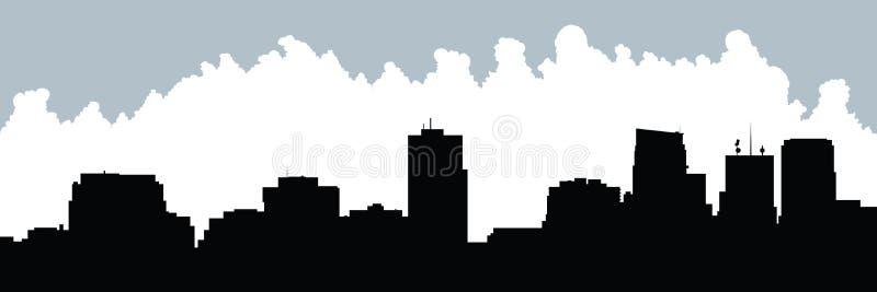 Cartoon London, Ontario. Cartoon skyline silhouette of the city of London, Ontario, Canada royalty free illustration