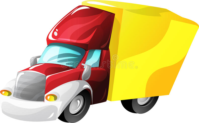 Cartoon lorry truck. Lorry truck in cartoon style as a illustration royalty free illustration