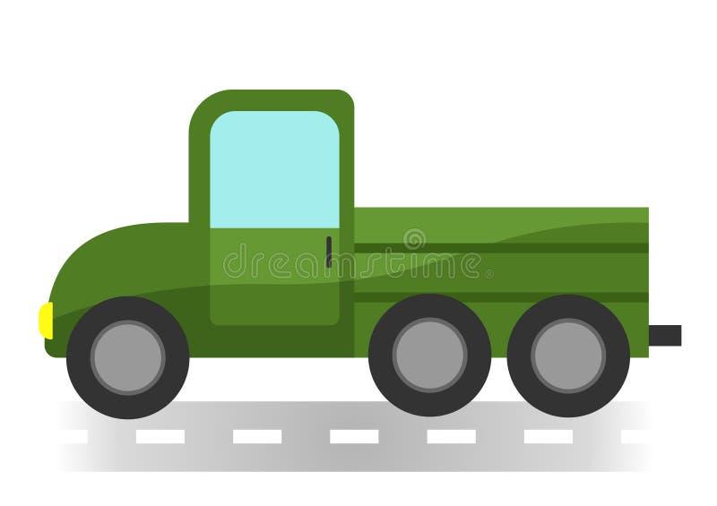 Cartoon lorry on white background. Isolated royalty free illustration
