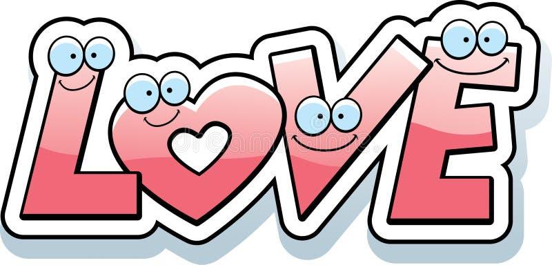 Cartoon Love Text royalty free illustration