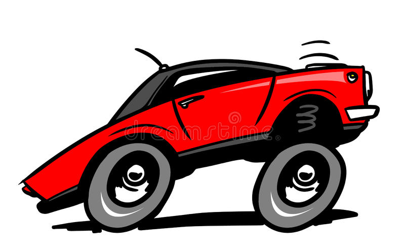 Cartoon low rider car vector illustration