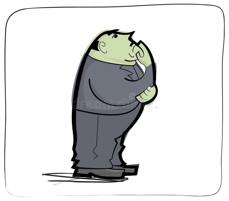 Cartoon Mafia Man Stock Photo
