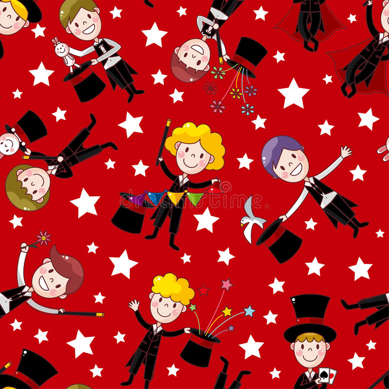 Download Cartoon Magician Seamless Pattern Stock Vector - Image: 23625847