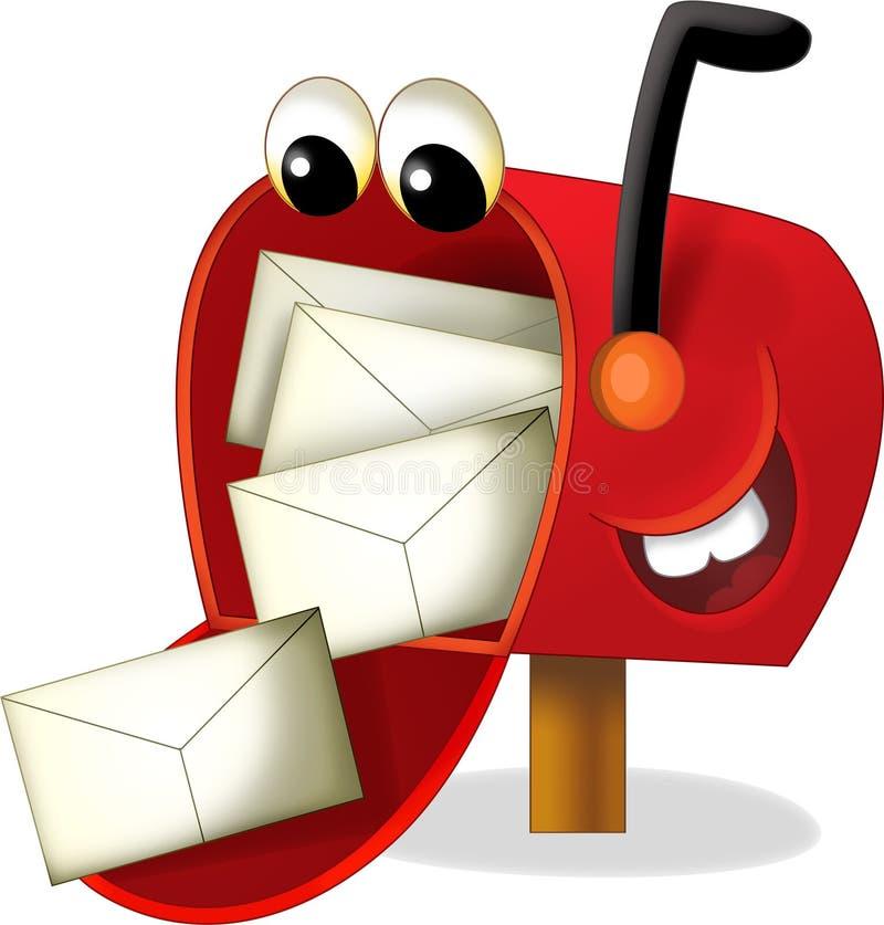 The cartoon mailbox - illustration for the children royalty free illustration