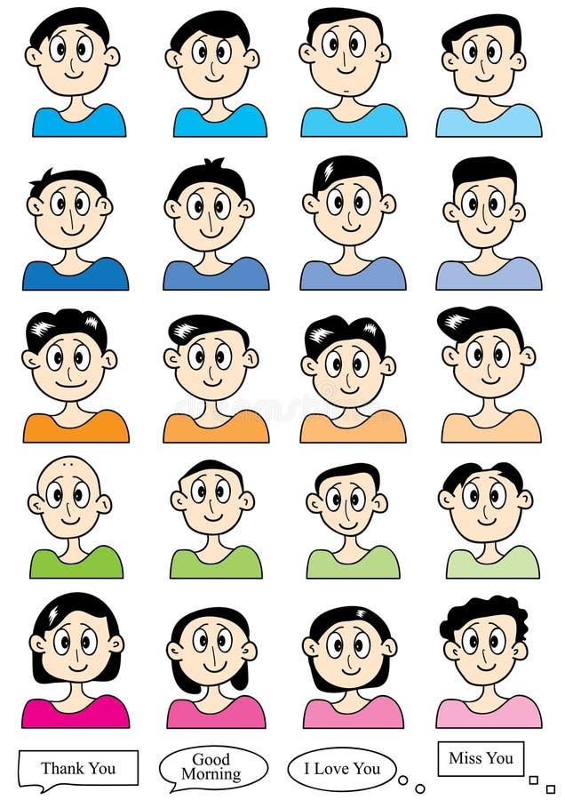 Cartoon Male Set_eps Stock Images
