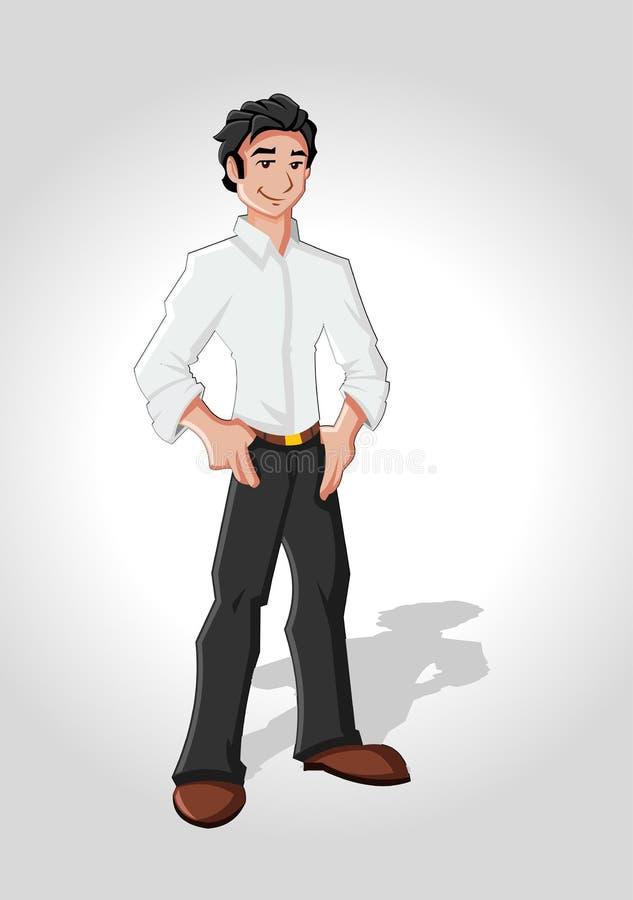 Cartoon man stock illustration