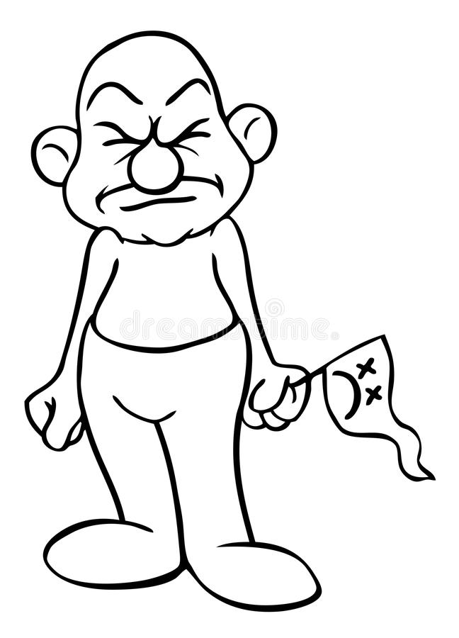 Cartoon Man Annoyed And Angry Royalty Free Stock Photo