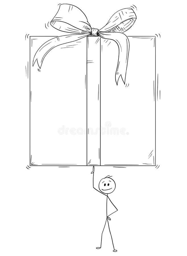 Box Stick Man Stock Illustrations
