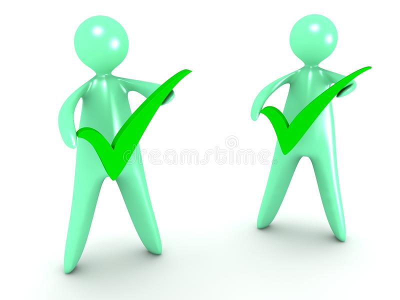 Download Cartoon Man With Check Mark Stock Illustration - Image: 26762777