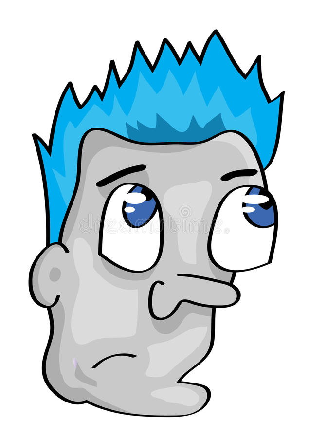 Cartoon man face vector illustration