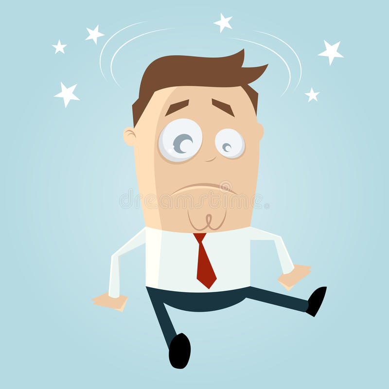 Download Cartoon man is fallen stock illustration. Image of misfortune - 32003690