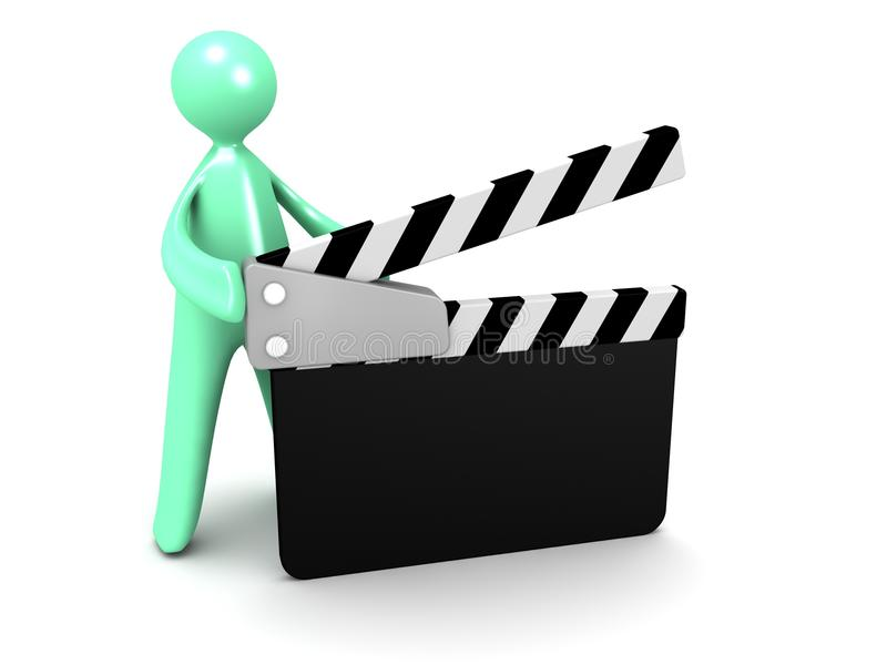 Download Cartoon Man With Movie Clapper Stock Illustration - Image: 26447691