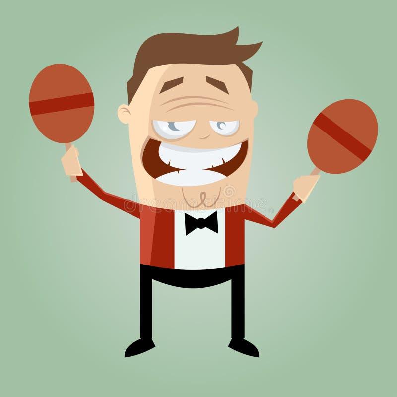 Download Cartoon Man Is Rattling Stock Photo - Image: 32004950