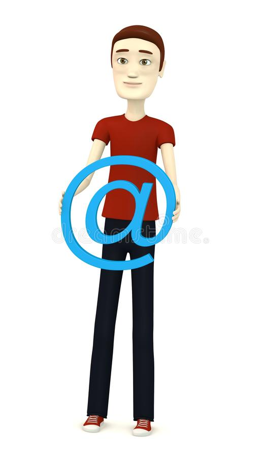 Download Cartoon man with at-sign stock illustration. Image of symbol - 30747382